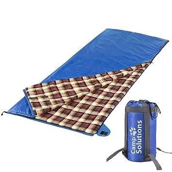 """Campamento soluciones ultraligero saco de dormir de franela con (79 """" ..."""