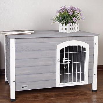 """petsfit 31 """"LX21 wx21"""" H interior perro casa de madera con puerta para"""