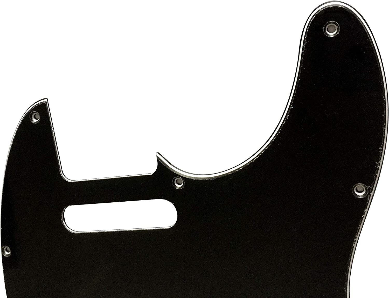 Guitar Pickguard For Fender Telecaster Nashville Tele Style Scratch Plate 3 Ply Black