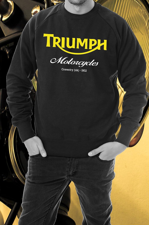 Felpa Triumph manica lunga girocollo Taglia XL Adesiviautoemoto
