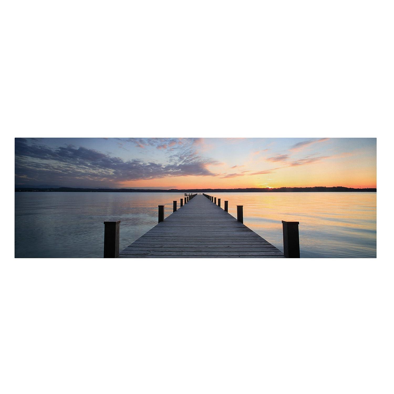Bilderwelten Leinwandbild -Top Maritim Leinwandbilder - Panorama Quer, Leinwand Leinwandbild - XXL Leinwanddruck Wandbild, Größe HxB  50cm x 150cm, Motiv  Ort der Ruhe
