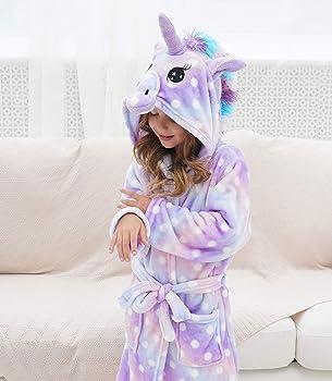 Unicorn Gifts for Girls Doctor Unicorn Soft Unicorn Hooded Bathrobe with Stars