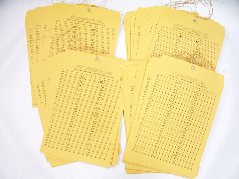 Pack of 100 71 Entries Per Envelope 12 x 16 Printed On Both Sides Interdepartmental String-Tie Envelopes