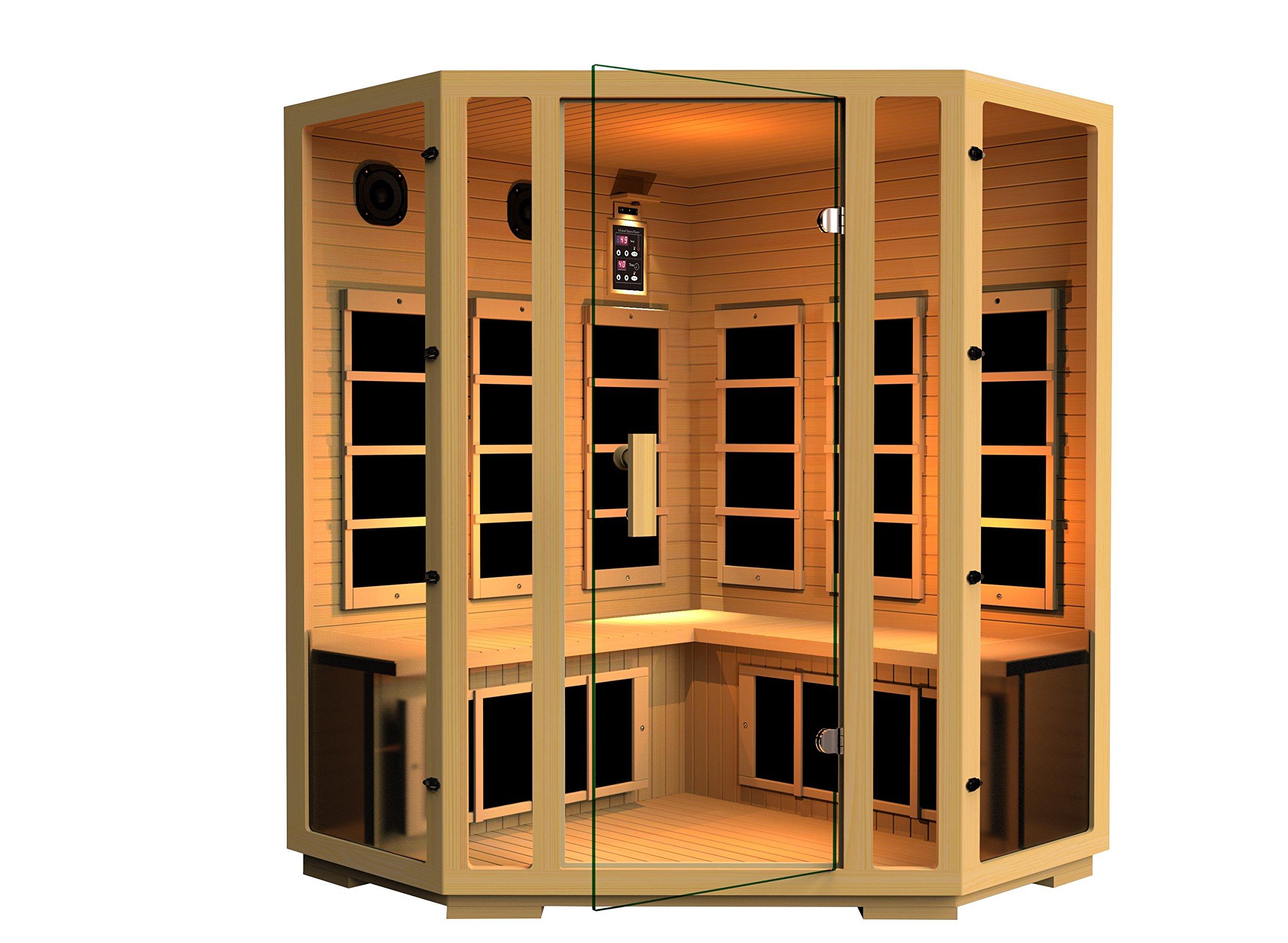 JNH Lifestyles Joyous Corner Far Infrared Sauna 8 Carbon Fiber Heaters 5 Year Warranty