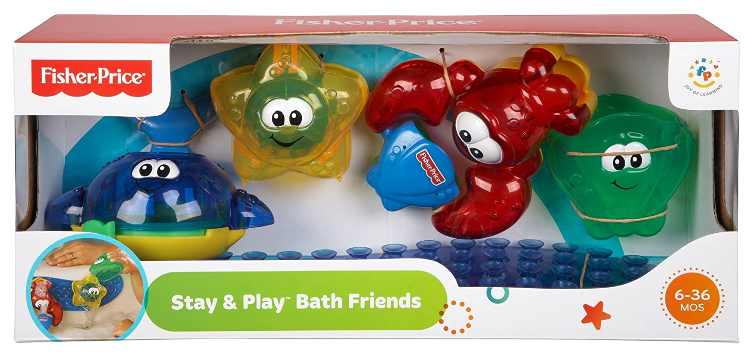 Amazon.com: Fisher Price Stay N Play Bath Friends: Toys & Games