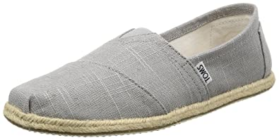 025772229ba Image Unavailable. Image not available for. Color  TOMS 10008381 Men s  Classics Linen Rope-Sole Slip-On ...