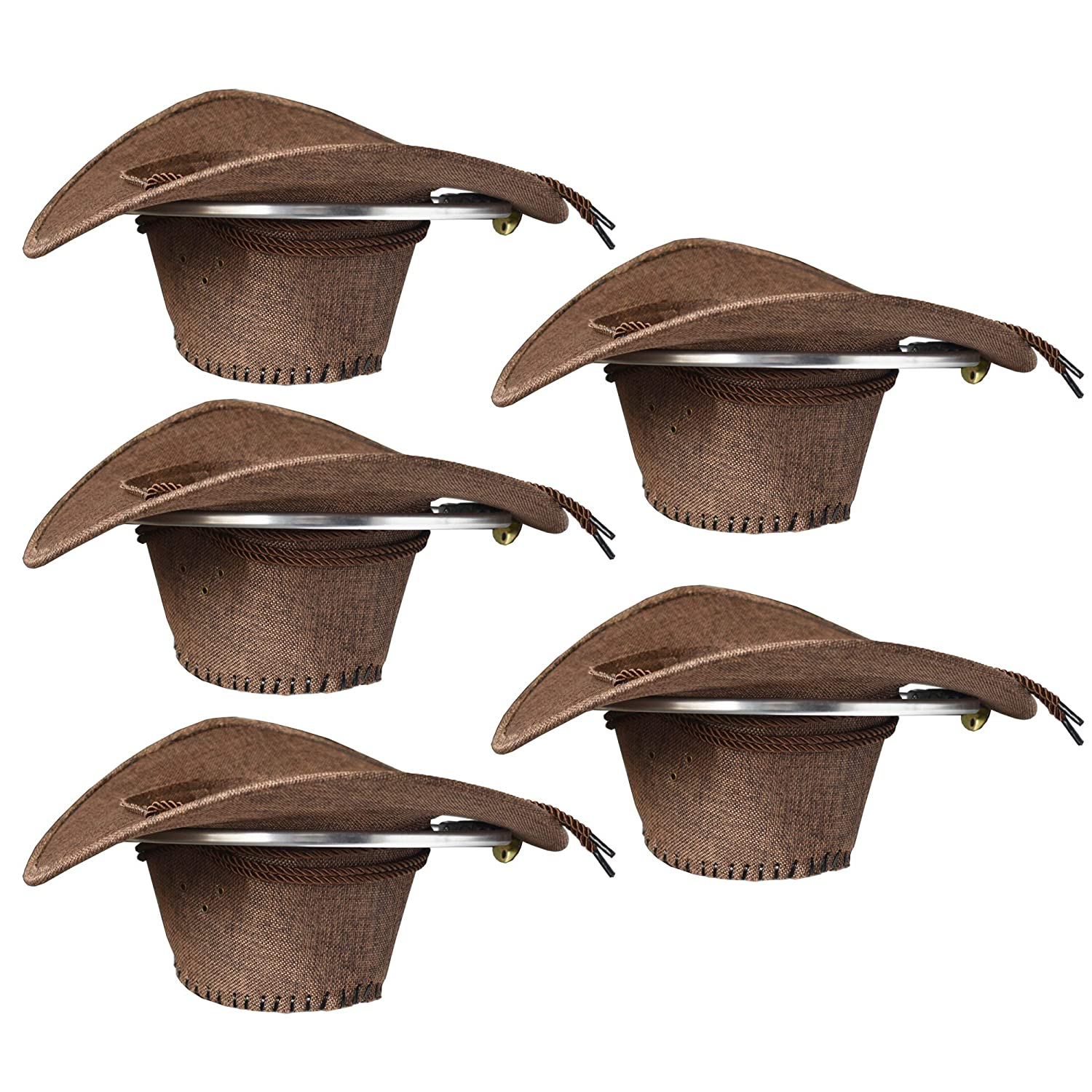 YYST Cowboy Hat Rack Cowboy Hat Holder Organizer 5  PK - No Falling - Big  Round Rack ... b72d4282b983