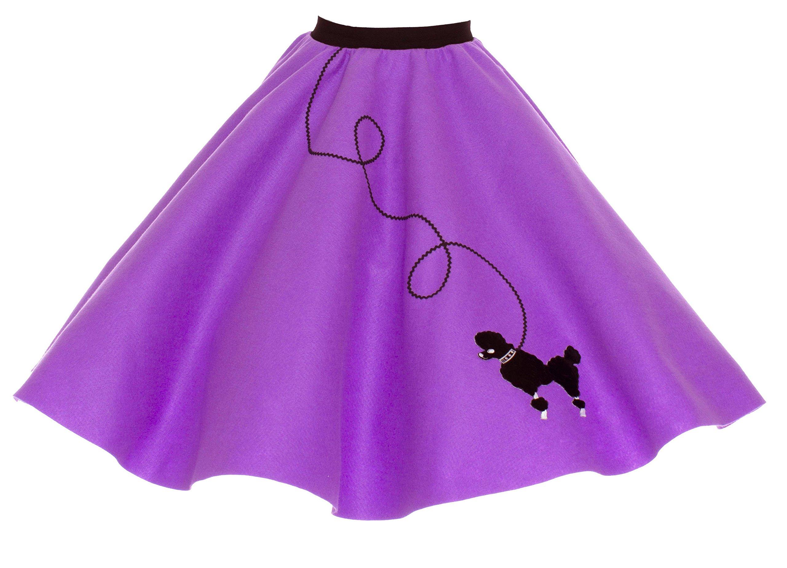Hip Hop 50s Shop Adult Poodle Skirt Purple 3X/4X