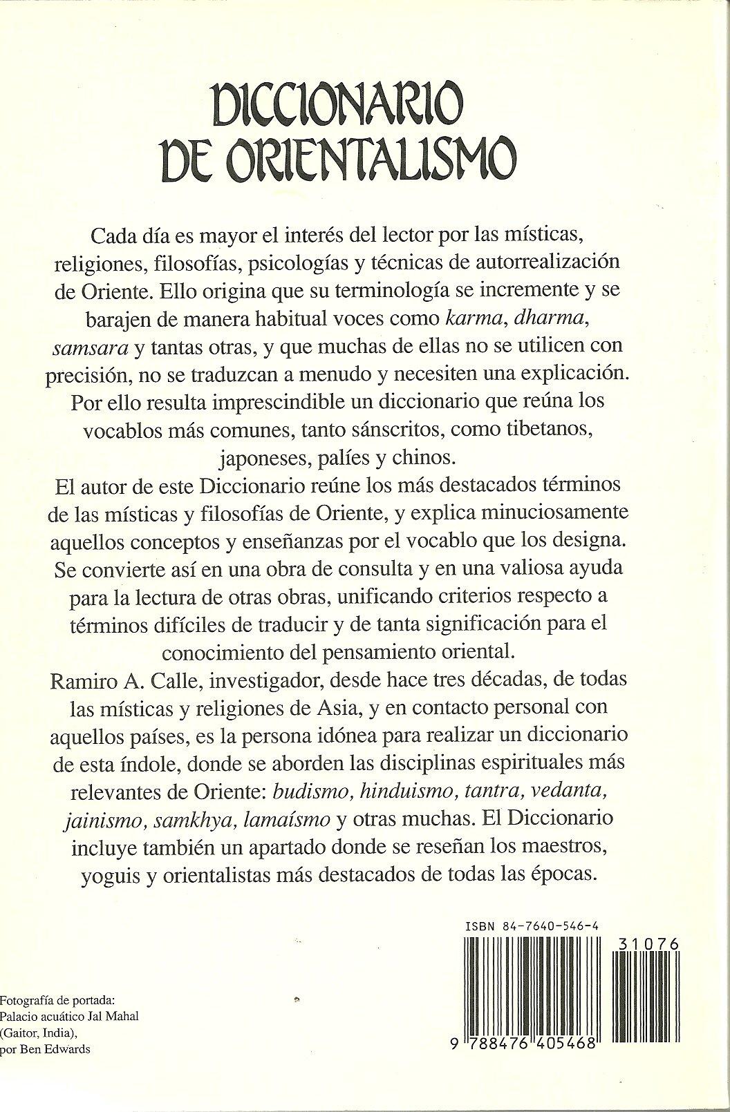 Diccionario de orientalismo: Amazon.es: Ramiro A. Calle: Libros