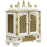 HomeCrafts Wooden Temple/Pooja Mandir for Home, 24x12x30 Inches(SRHD713-WHITE-L)