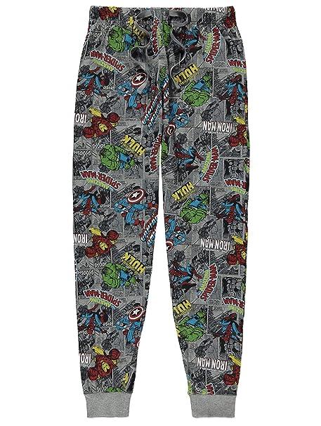 taille 40 e1f1e 90d62 Mens Marvel Comic Strip Cuffed Ankle Pyjama/Lounge Pants