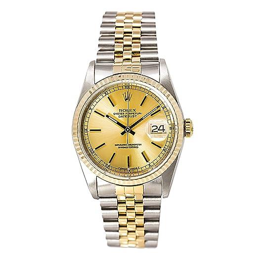 Rolex Datejust automatic-self-wind Mens Reloj 16233 (Certificado) de segunda mano: Rolex: Amazon.es: Relojes