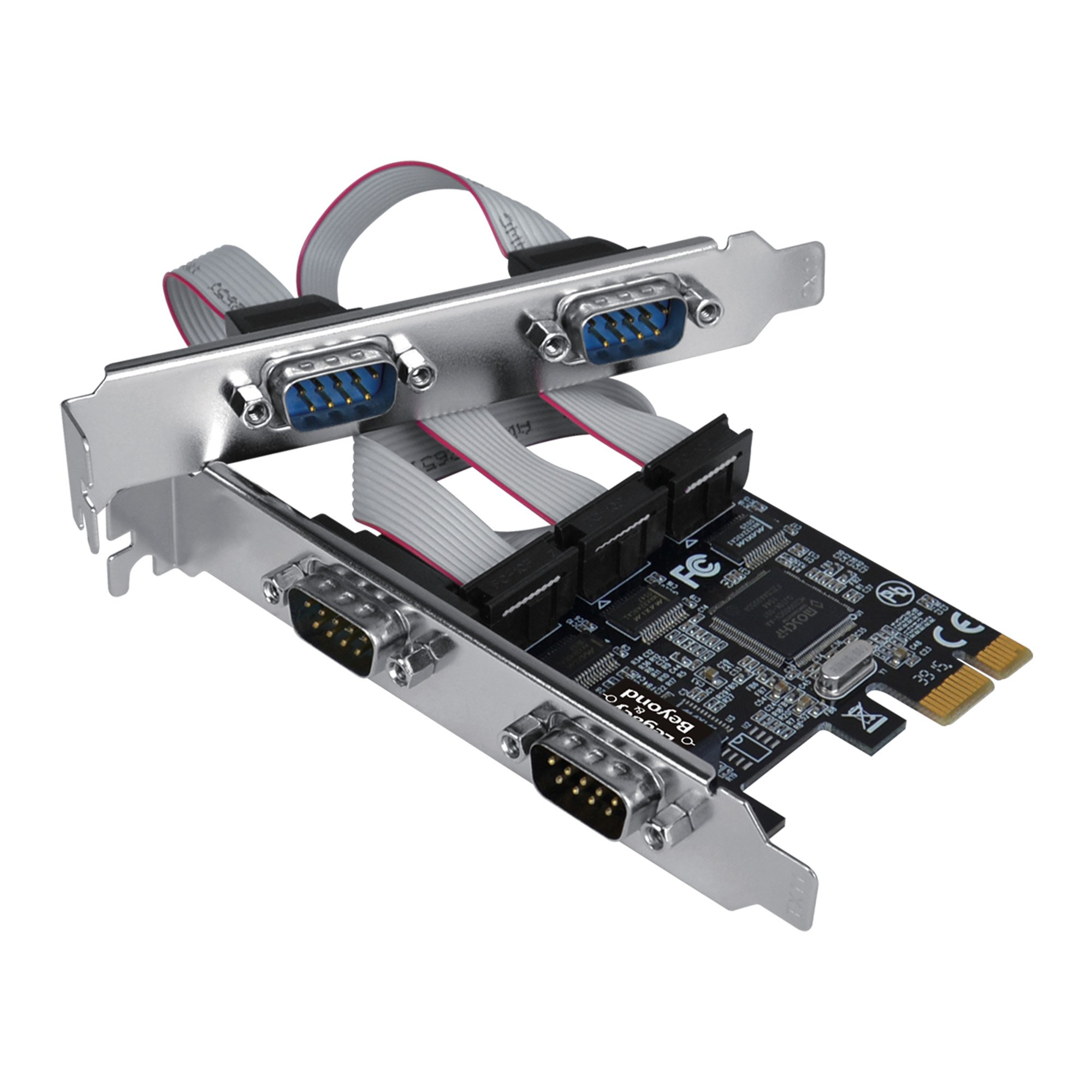 SIIG Legacy and Beyond Series Quad (4 Port) Serial RS-232 PCIe Card with 16C550 UART by SIIG