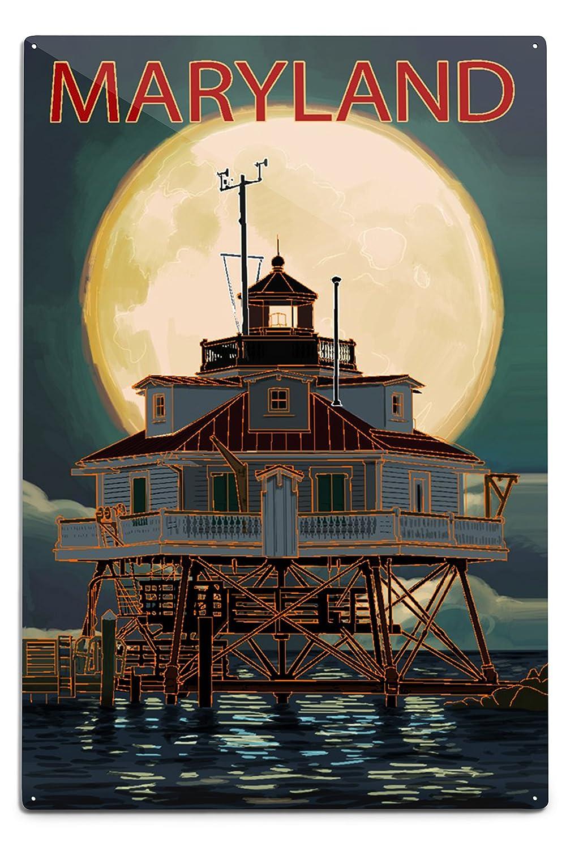 非売品 チェサピークベイ、メリーランド州 – Lighthouse and Tote Metal Full Moon 18 Canvas Tote Bag LANT-86132-TT B07BSRJH79 12 x 18 Metal Sign 12 x 18 Metal Sign, 株式会社シェリィー宝飾:e952a142 --- vezam.lt