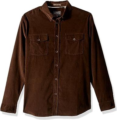 Quiksilver Bells Point Camisa de manga larga para hombre Courderoy - Marrón - Small: Amazon.es: Ropa y accesorios