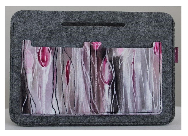 Grey Bag Organizer Design TULIPS Felt