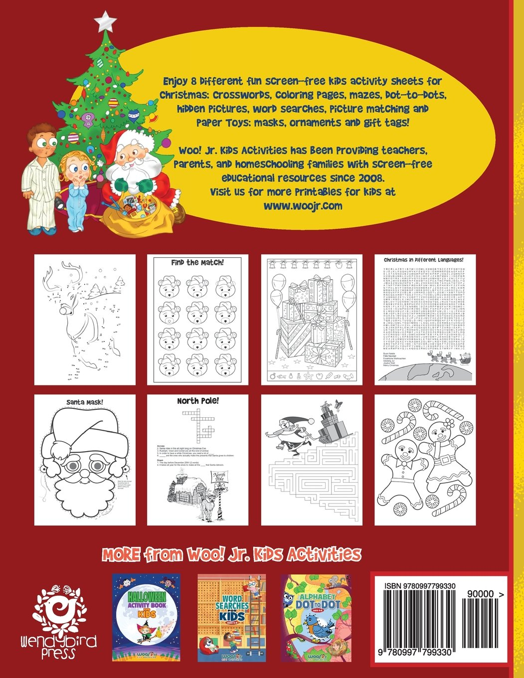 christmas activity book for kids reproducible games worksheets and coloring book woo jr kids activities books woo
