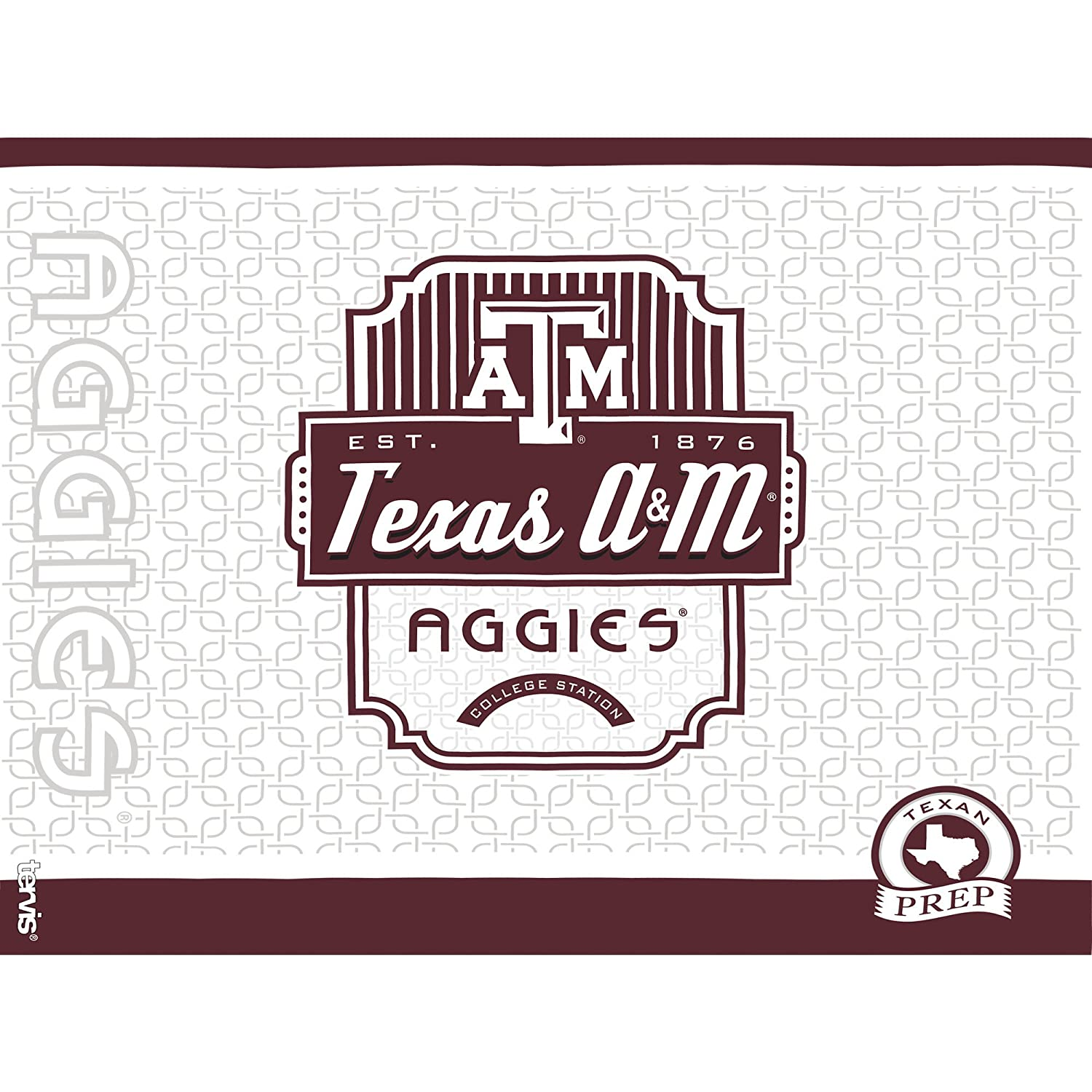 Clear Tervis 1229127 Texas A/&M Aggies Pregame Prep Tumbler with Wrap and Maroon Lid 24oz