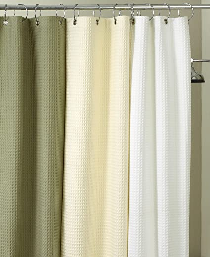 Hotel Collection QuotWafflequot Shower Curtain White