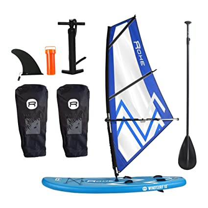 ROHE Pack Paddle Gonflable Windsurf avec Kit Planche a Voile ...