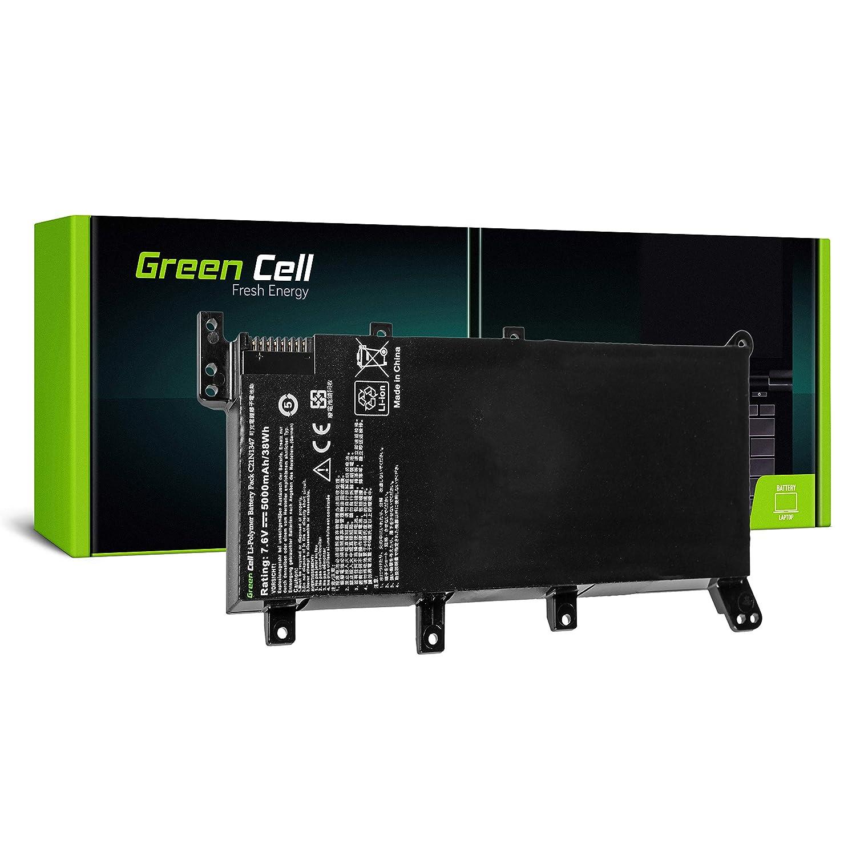 Green Cell/® C21N1347 Bater/ía para ASUS A555 A555L F555 F555L F555LD K555 K555L K555LD R556 R556L R556LD R556LJ X555 X555L Ordenador 5000mAh 7.6V Negro