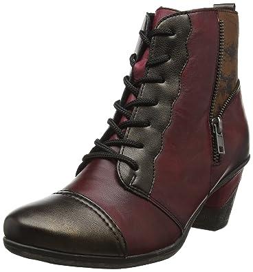 Remonte Womens D8782 Chukka Boots Multicolor AntikVinoChestnutSchwarz