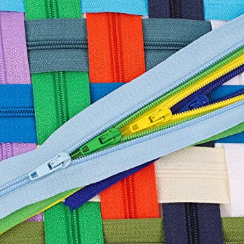 25 Assorted Colors Outuxed 150pcs 9 Inches Nylon Coil Zippers Colorful Sewing Zippers for Tailor Sewing Crafts