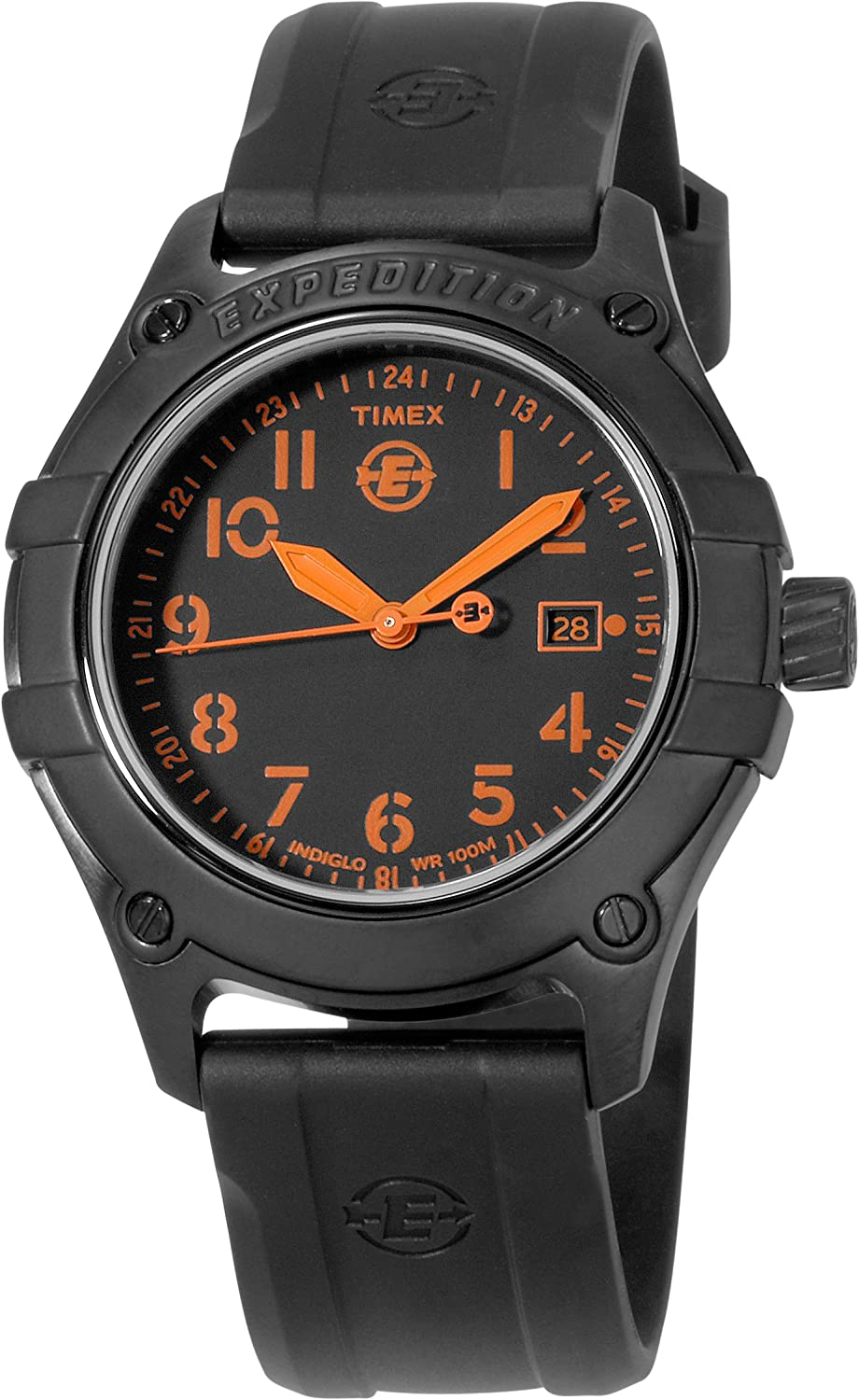 Amazon.com: Timex Mens T49698 Analog Stainless Steel Rubber ...