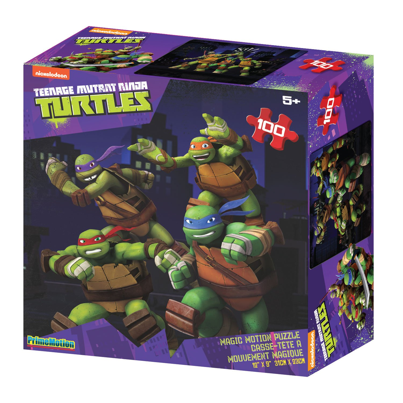 teenage mutant ninja turtles 100 piece lenticular puzzle jigsaw