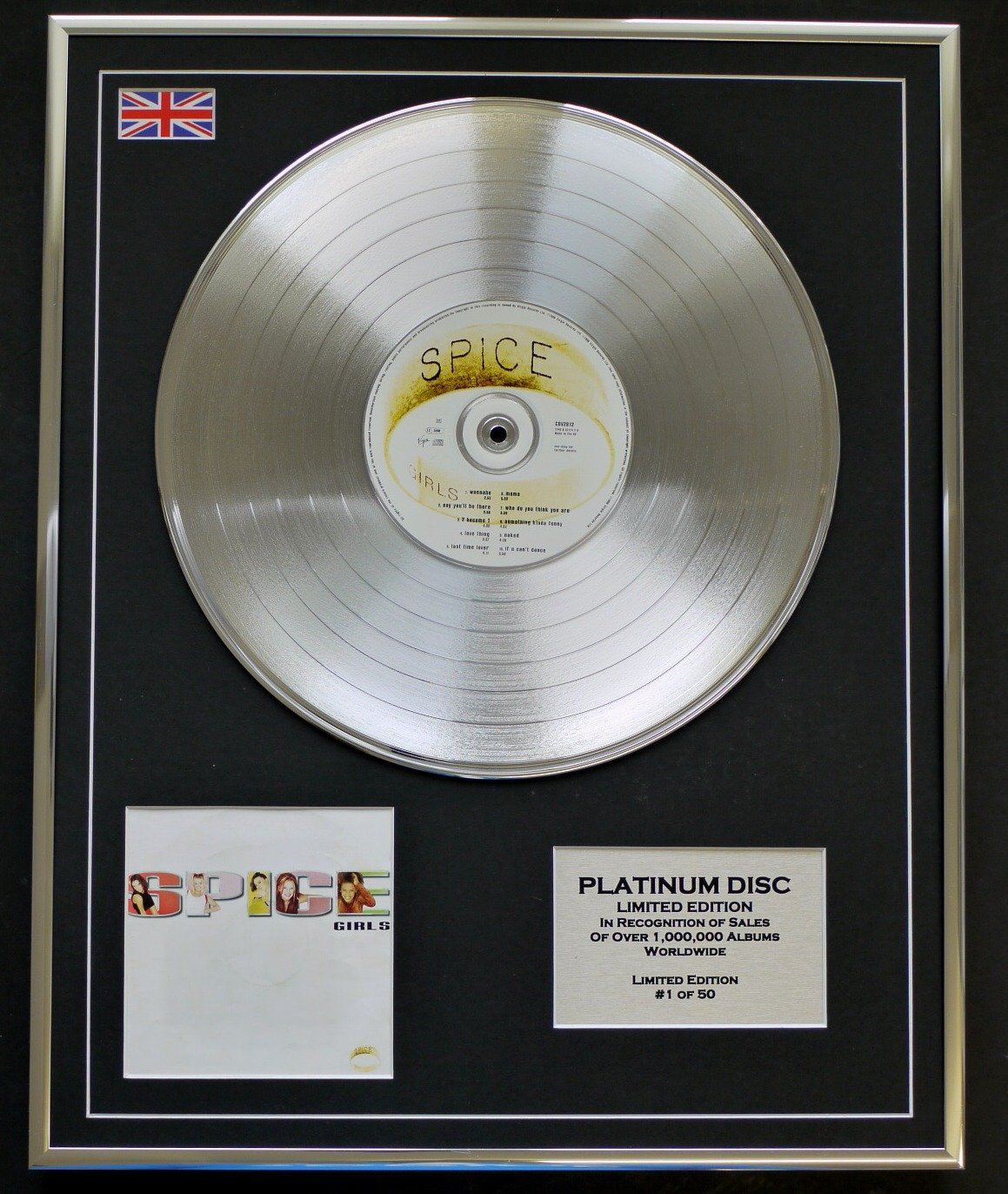 Everythingcollectible SPICE GIRLS Limitierte Edition Platin Schallplatte SPICE