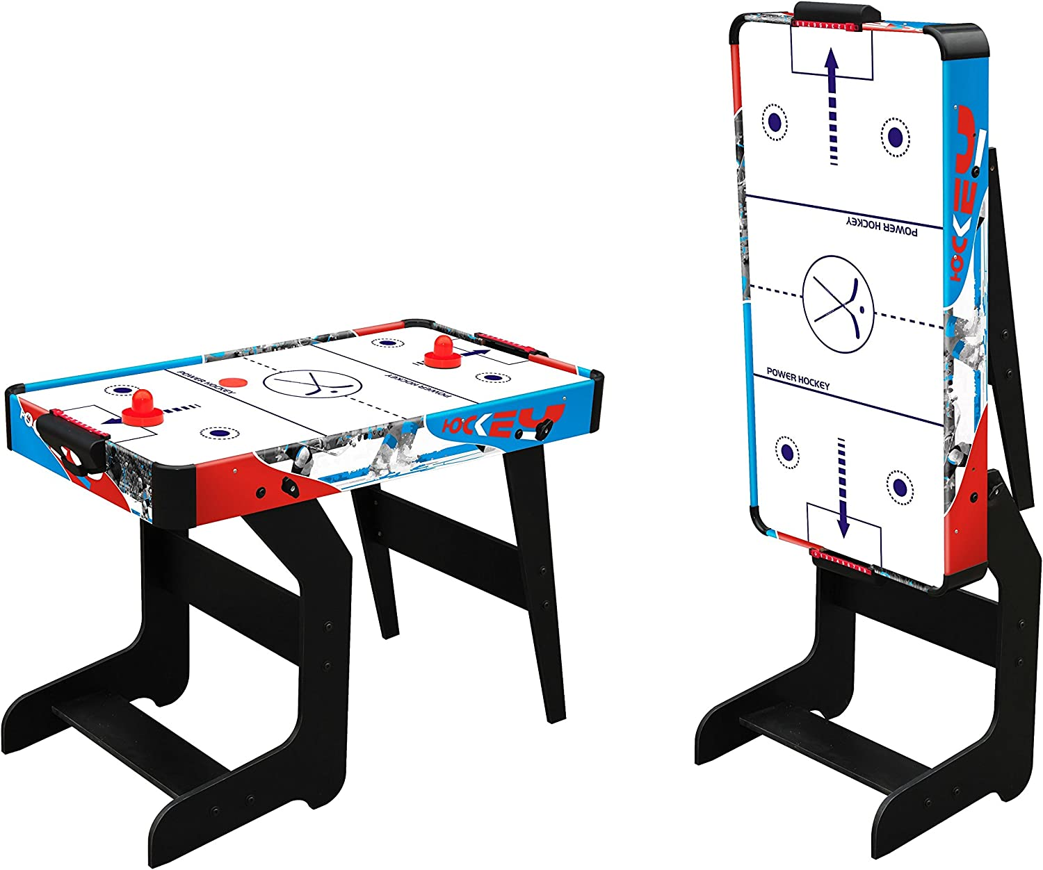 MESA AIR HOCKEY PLEGABLE PARA NIÑOS MOKO - VENTILADOR: Amazon.es ...
