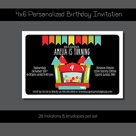 Image Unavailable Not Available For Color Custom Birthday Party Invitation