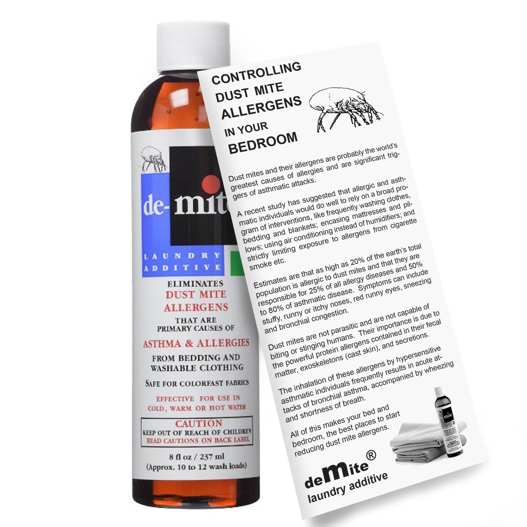 DeMite Laundry Additive (8 oz) Allergen Eliminator with Bonus Expert Pro Tips to Eliminate Dust Mite Allergens