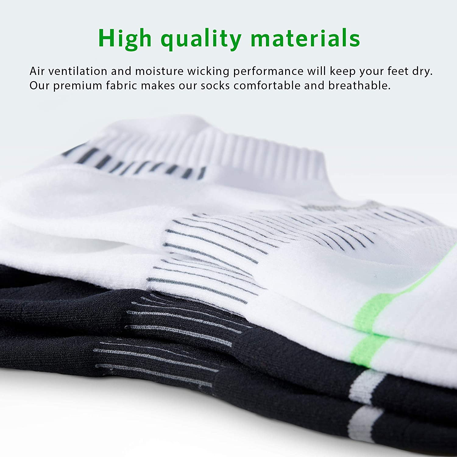 5//10 Pairs Athletic Running Cushioned Performance Ankle Socks