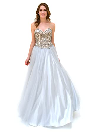a03433934b9 Renee Couture Ball Gown Dress 6224 Grey  Amazon.co.uk  Clothing