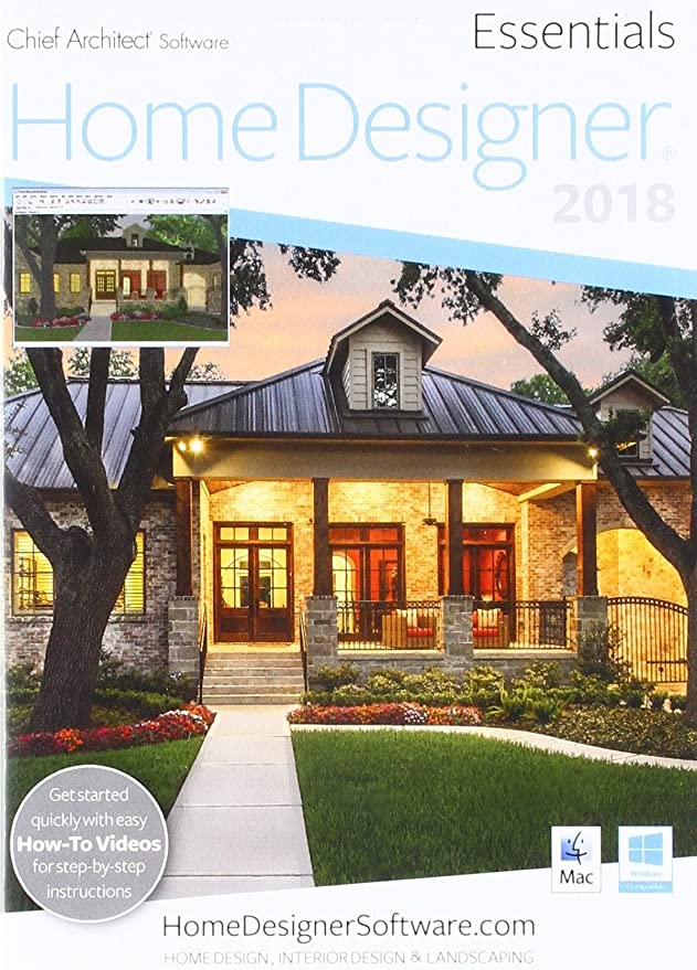 Amazon com chief architect home designer essentials 2018 dvd