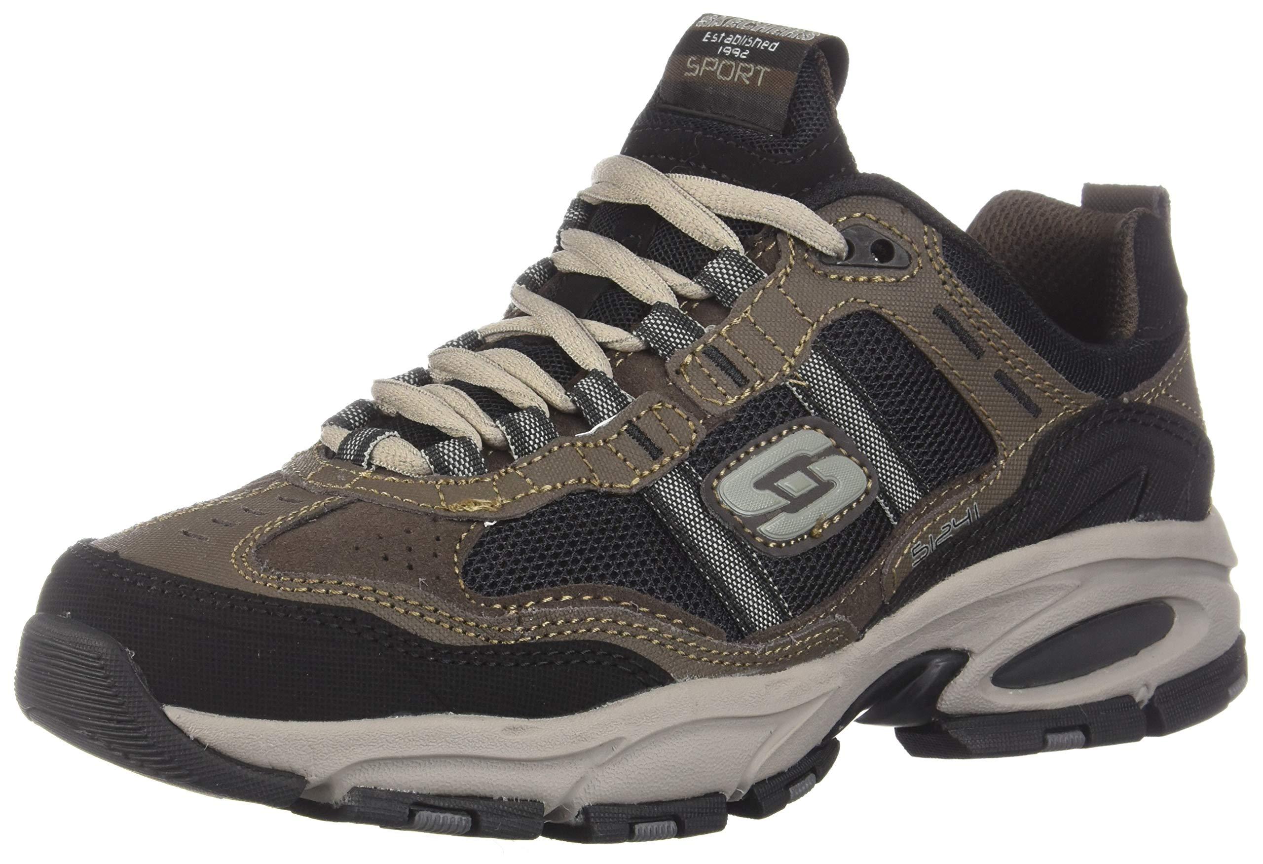 Skechers Sport Men's Vigor 2.0 Trait Memory Foam Sneaker, Brown/Black, 7 M US by Skechers (Image #1)