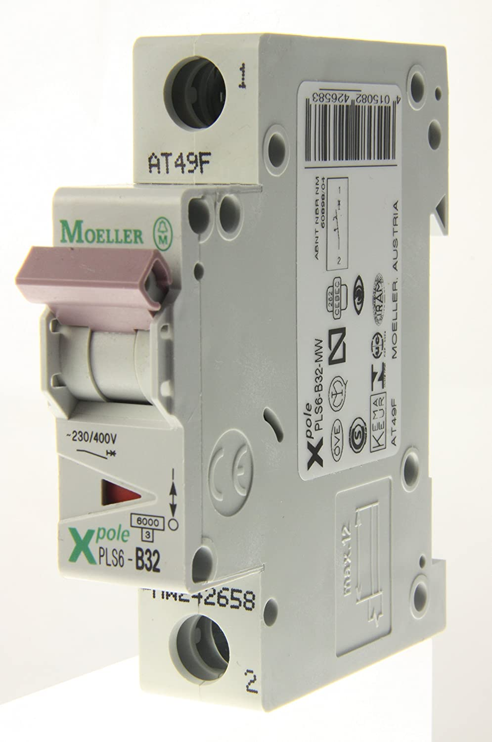 Moeller - X Pole PLS6-B32-MW - 32a Type B Single Pole MCB 207085