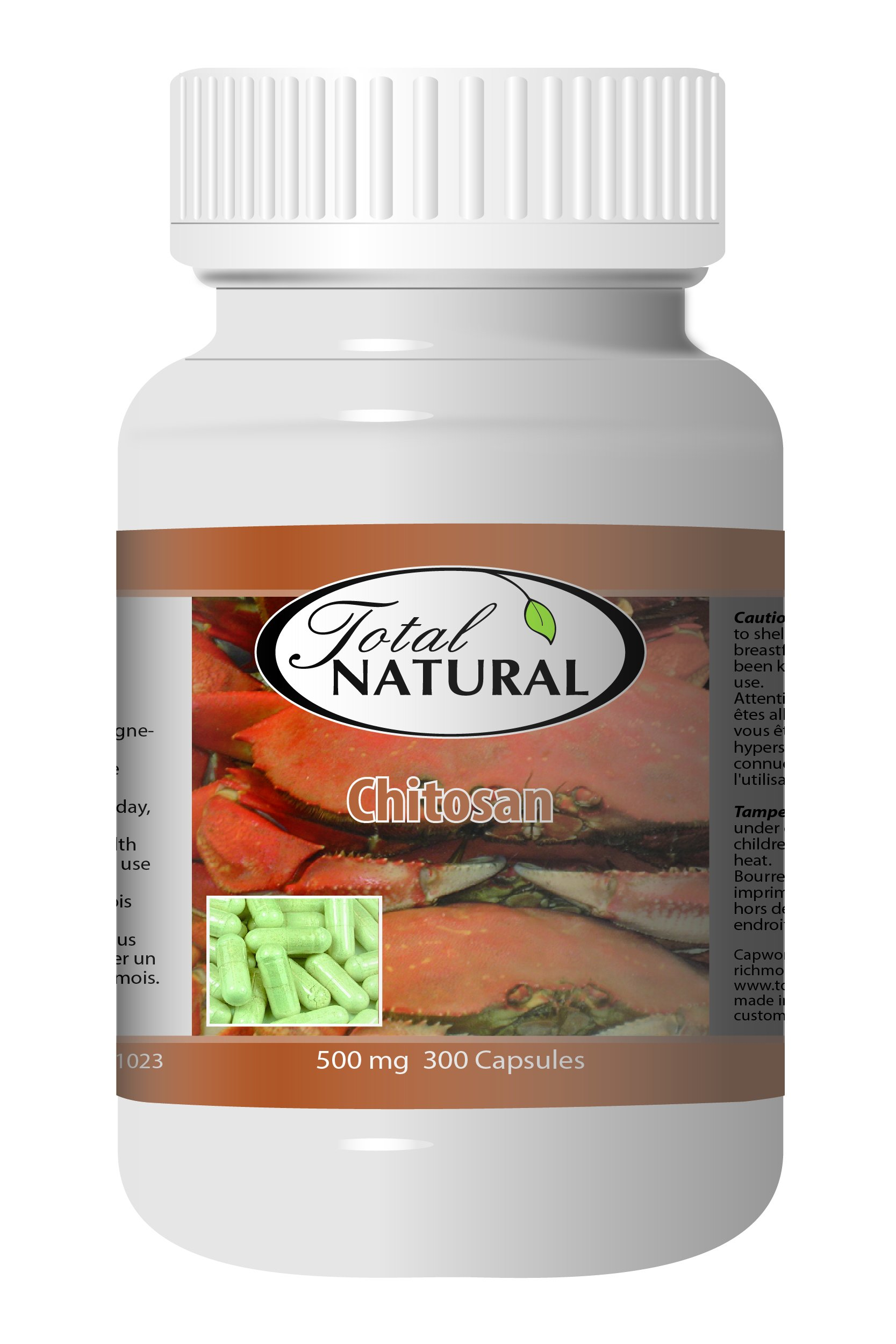 Chitosan 500mg 300c - [12 bottles] Diet And Energy Formulas