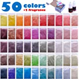 Mica Powder - Soap Making Kit - Soap Making dye - 50 Coloring - Powdered Pigments Set - Hand Soap Making Supplies - Resin Dye - Organic Mica Powder - Bath Bomb Dye Colorant
