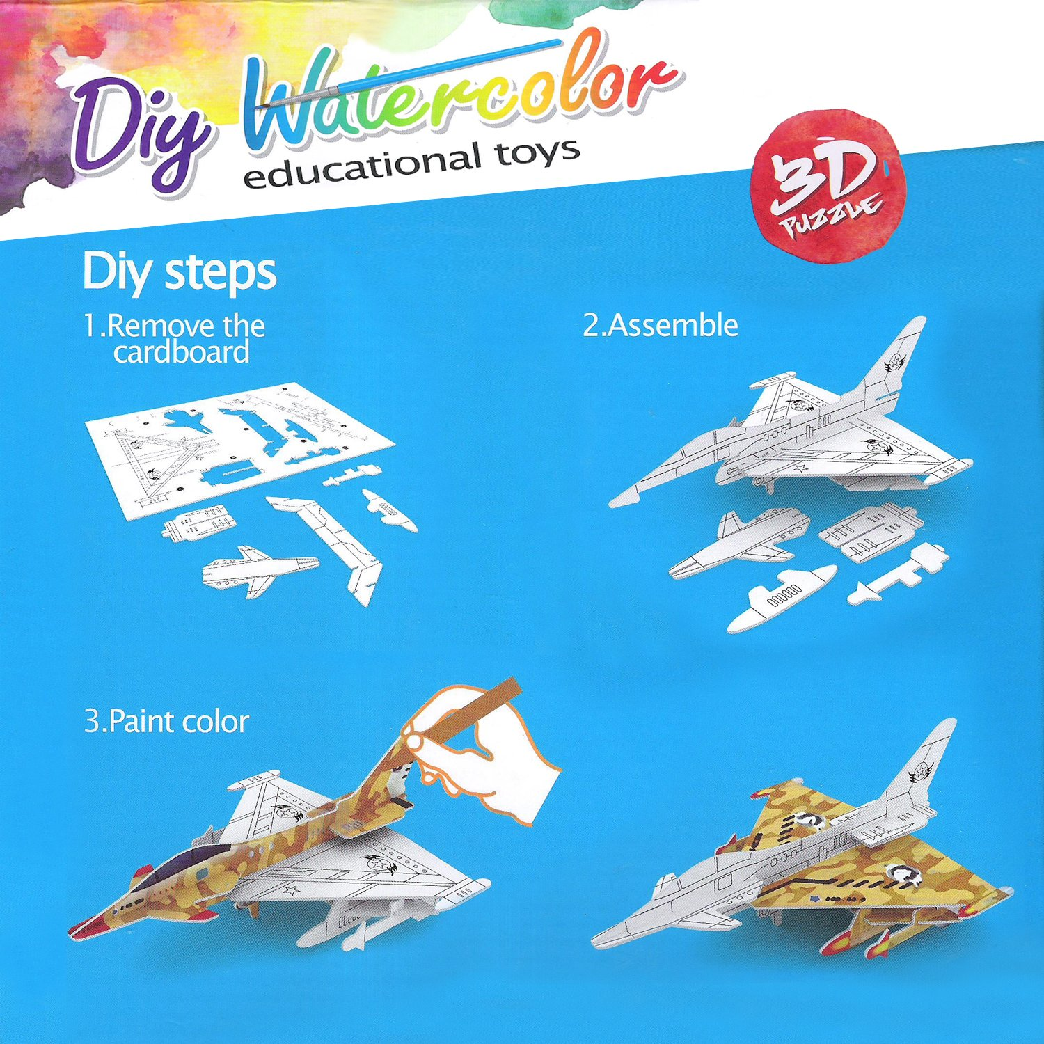3d Puzzle Safe Foam Model Building Architecture Diy House Aircraft Fighter Military Model Diy Toys For Kids Model Building Toys & Hobbies