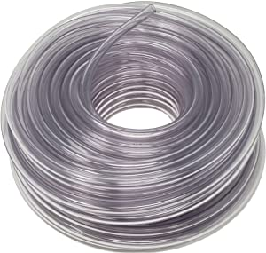 Sealproof Unreinforced PVC Food Grade Clear Vinyl Tubing, 100 FT, 1/4-Inch-ID x 3/8-Inch OD