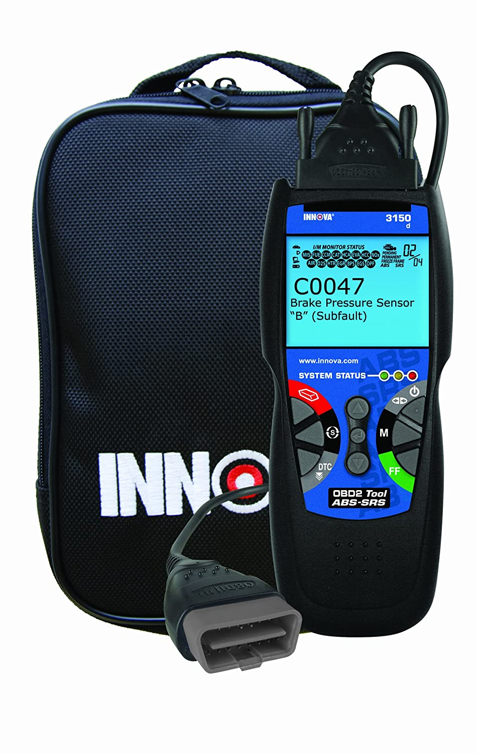 Innova 3150 Diagnostic Scan Tool/Code Reader with ABS/SRS for OBD2 Vehicles  (Black & White Screen)