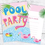 pool party invitations personalised invites amazon co uk toys games