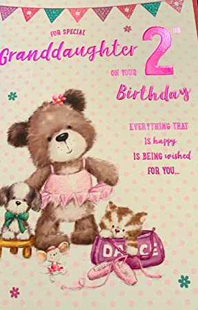 For A Special Granddaughter On Your 2nd Birthday Card