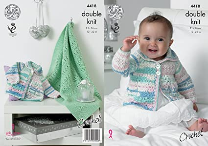 Amazon King Cole Baby Double Knit Crochet Pattern Lace Effect