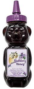 Wild Huckleberry Honey Bear 12.0 oz