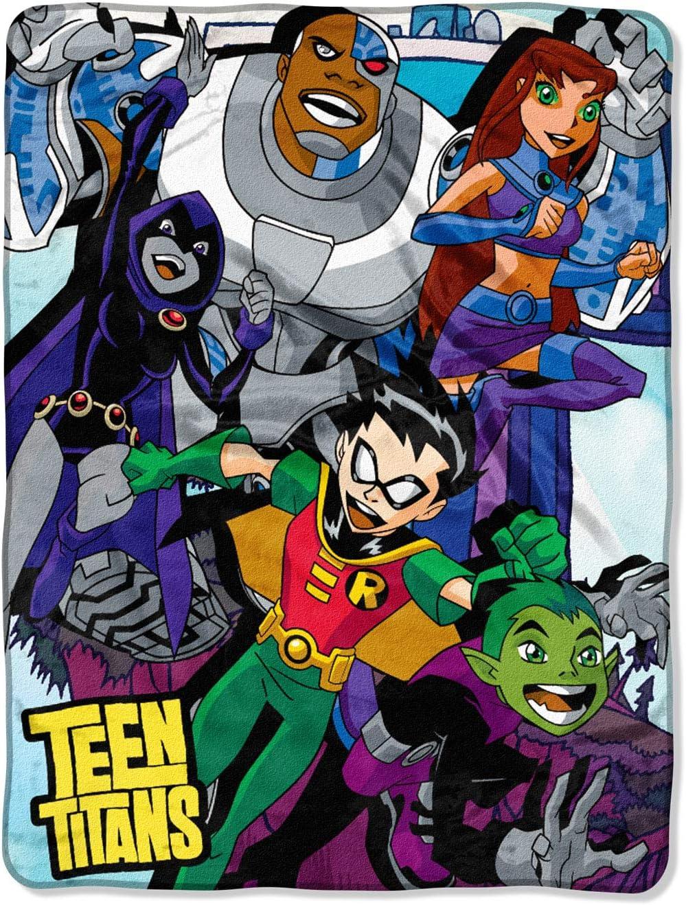 Teen Titans Let S Go Robin Cyborg Beast Boy Starfire Raven Plush Throw Blanket 46 X 60 Amazon Ca Home Kitchen