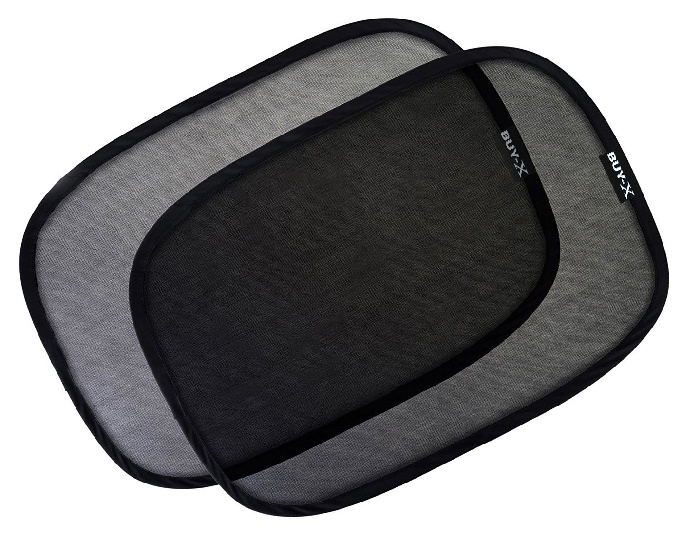 Car Sun Shades (3-Pack) - Blocks 97% of Harmful UV Rays - Universal Auto Back Seat Window Sunshade - Sun Glare Protector for Your Kids & Pets - 21'x14' inch - for SUVs, Minivans, and Trucks Buy-X BX-102