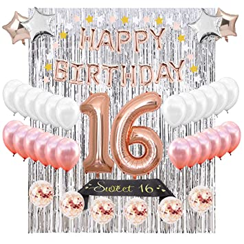 16th BIRTHDAY PARTY SUPPLIES DECORATIONS